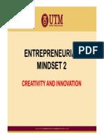 Entrepreneurial Mindset 2 - Creativity and Innovation