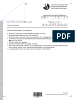 Estudios Matemáticos SL Papel 1 2013 B