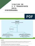 Planificacion de Carguio y Transporte en Mineria Subterranea