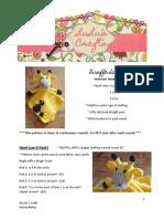 Lulu's Crafts Giraffe Lovey Pattern