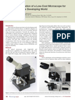 Design and Validation of a Low-Cost Microscope