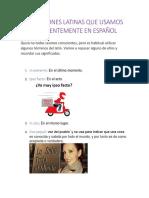 Expresiones Latinas Que Usamos Frecuentemente en Español 2