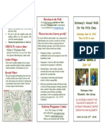 Walk June 16 2018 3 Fold Brochure Church