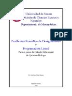 Desigualidades y Programacion Lineal