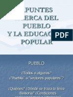 Apuntes Acerca Del Pueblo y La Educacion Polpular