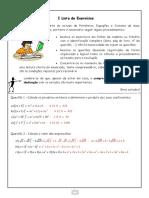 I Lista de Exercícios II Trimestre Resolução- 8° ano publicação