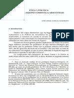 Etica y Politica, Tomas de Aquino Comenta a Aristoteles