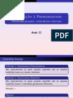Aula 11 Probabilidades Conceitos Iniciais Imprimir