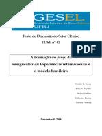 56_GESEL - TDSE 62 Preço da Energia