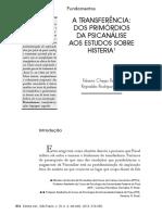 A Transferência - Dos Primórdios Da Psicanálise Aos Estudos Sobre Histeria