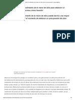 ¿Cómo Calcular El Rendimiento de La Mano de Obra Para Un Presupuesto_ _ Arquinétpolis