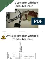 04 Arnés de Actuador Whirlpool Modelos 6th Sense