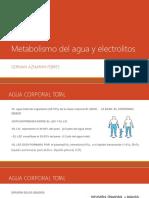 Metabolismo Del Agua y Electrolitos