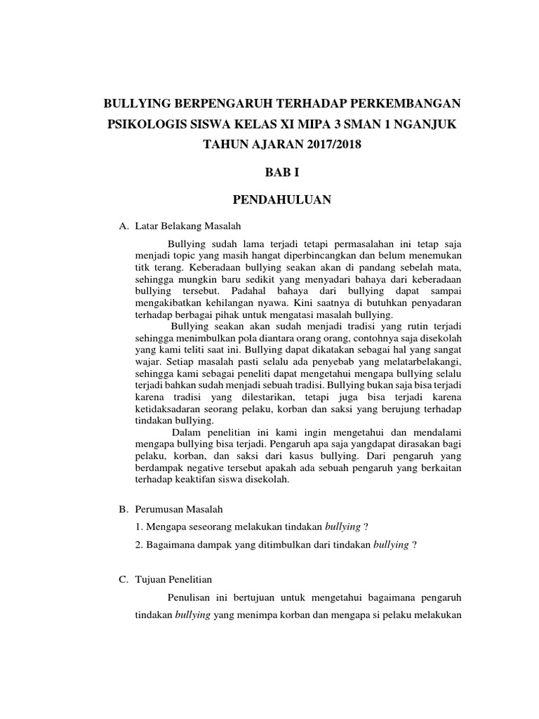 Proposal Penelitian Bullying
