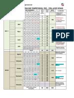 Calendarización Semipresencial Jh 2018 I-II