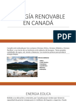 Energía Renovable en Canadá