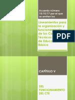 CAP v Lineamientos Para La Organización y Funcionamiento de Los CTE