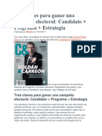 Tres Claves Para Ganar Una Campaña Electoral
