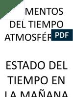 Elementos Del Tiempo Atmosférico