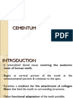 Cementum 1- Dental eBook & Lecture Notes PDF Download (Studynama.com - India's Biggest Website for BDS Study Material Downloads)