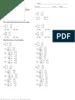 FP1 Matrices - Inverses