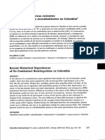 Experiencias Históricas Recientes de Reintegración de Excombatientes en Col...