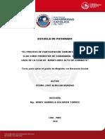 Albujar Moreno Pedro El Proceso de Participación