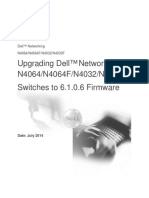 Upgrading Dell Networking N4000 Series Switches From Version 6.x.x.x to 6.1.0.6 Firmware