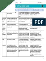 U3L10 Practice PT - Design a Digital Scene - Project and Programming Rubric