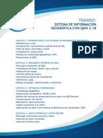 Temario Sistema de Información Geográfica Con Qgis 2.18