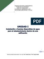 UNIDAD I. -01 Instalacion y Fuentes en Edificaciones