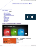 Create a 3D Glossy Box Logo..