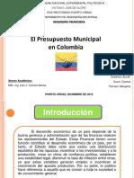 Presupuesto Municipal Colombia