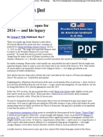 (Afghanistan Post 2014)      Obama's False Hopes for the 2014 Election (George F. Will) The Washington Post.pdf