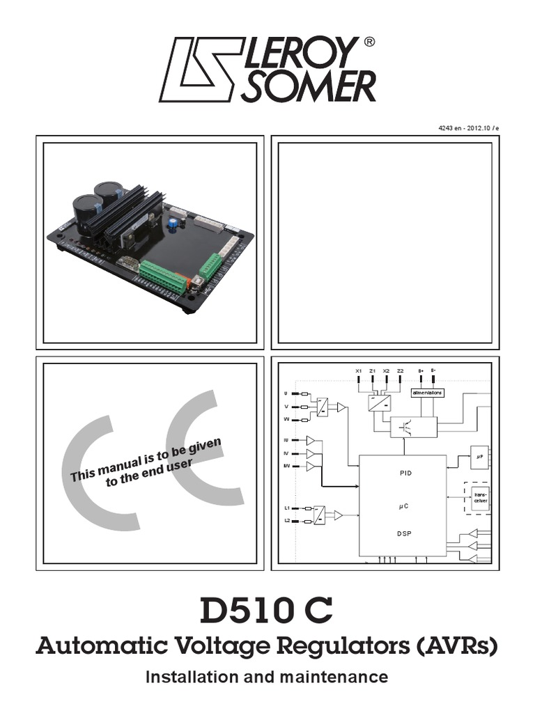leroy somer d510 c 4243e en pdf mains electricity ac power rh scribd com