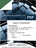 Régimen de Propiedad y Condominio.