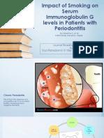 Impact of Smoking on Serum Immunoglobulin G levels.pptx