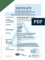 En 1090-1 Certificate 2016