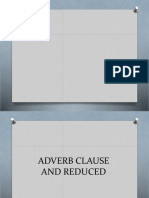 Adjective Clause + reduced