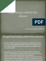 PPT Cara Belajar Efektif Dan Efesien