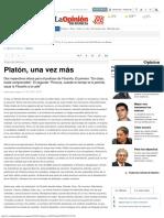 2018 - Platón, Una Vez Más - La Opinión de Murcia