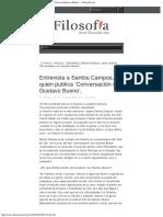 2008 - Entrevista a Santos Campos, Quien Publica 'Conversación Con Gustavo Bueno',