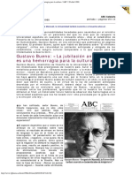 1988 - Gustavo Bueno - La Jubilación Anticipada Es Una Hemorragia Para La Cultura ABC