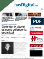 2014 - Fernando de Haro - `Defender el aborto es como defender la esclavitud`