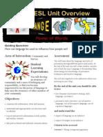 Grade 8 ESL Cover Sheet- Power of Words Copy