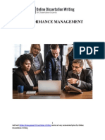 A Sample Report on Performance Management in an Organization