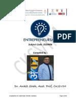 Entrepreneurship - Advanced Reading
