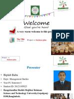 Business Plan on Handicraft