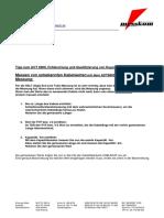 Kabeldatenbank CABLEDAT.csv Editieren Kabelwerte Messen Messkom