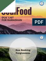 Ramadhan Duaa Booklet